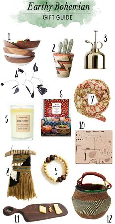 Gift Guide for The Earthy Bohemian