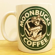 "Sailor Moon's ""Moonbucks Coffee""! ★Ceramic Mug 11oz ★Dishwasher/microwave safe ★Doesn't scratch off ★Message me if you want any custom mugs! Contact us at shopwolffawn@gmail.com Instagram: @shopwolffa"