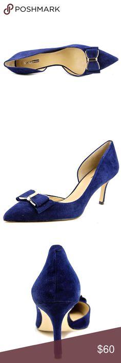 BCBG Navy Pumps🎀 Chester pumps, blue suede BCBGeneration Shoes Heels