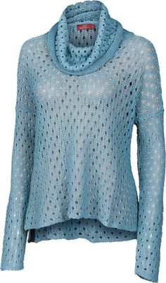 PEEK A BOO | Picot Hole Chunky Knit Pullover | 100% Linen | color: Teal | www.krimsonklover.com