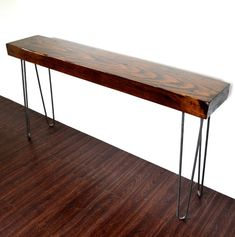 """4""""x12'x48"""" Industrial Beam Console Table Reclaimed Wood On by CasanovaHome"""
