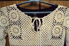 Katia Ribeiro Moda & Decoração Handmade: Sáida de Praia Branca em Crochê com Sugestão dos Pontos