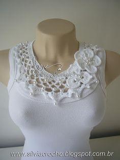 Сильвия Gramani крючком: Жемчужное ожерелье