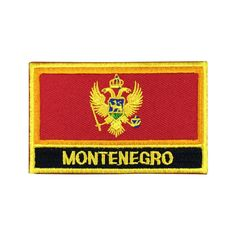 Montenegro Flag Patch Embroidered Patch Gold Border Iron On patch Sew on Patch Bag Patch meet you on Fleckenworld.com