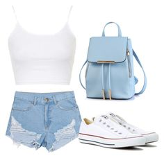 """""""Untitled #21"""" by fashionfever147 ❤ liked on Polyvore featuring beauty, Topshop and Converse"""