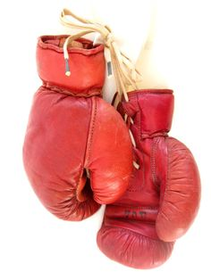 VintageAntiqueLeather Boxing GlovesManly Mancirca by tessiemay, $110.00