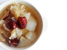 Pear and red dates sweet dessert