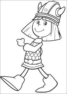 ausmalbild: kleiner wikinger mit schwert | ausmalbilder kostenlos zum ausdrucken | wikinger