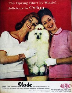Fashion with poodle,1960.
