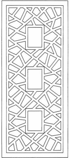 Abstract design for coloring. Mount this on solid colored paper, laminate it and it makes a great bookmark! Make your world more colorful with free printable coloring pages from italks. Our free coloring pages for adults and kids. Geometric Coloring Pages, Colouring Pages, Free Coloring, Coloring Books, Zentangle Patterns, Mosaic Patterns, Printable Adult Coloring Pages, Colored Paper, Kirigami