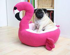 PRE ORDER Flamingo bed - dog cat bed - cute kawaii - pink