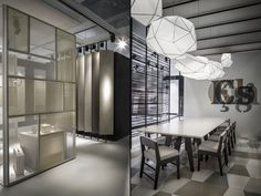 Kale Pavillion at Cersaie 2015 by Paolo Cesaretti, Bologna – Italy Visual Merchandising, Bologna Italy, Dramatic Lighting, Branding Materials, Retail Store Design, Design Furniture, Stores, Trade Fair, Exhibition Stands