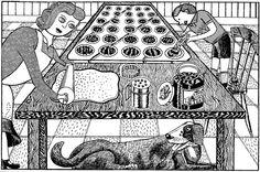 baking Graphic Illustration, Illustrations, Season 2, Old And New, Food Art, Arts And Crafts, Pets, Baking, Pet Art