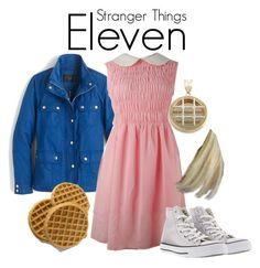 Stranger Things by sparkle1277 on Polyvore featuring polyvore, fashion, style, J.Crew, Converse and clothing