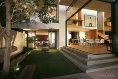 SAOTA (Stefan Antoni Olmesdahl Truen Architects) and Antoni Associates designed the Victoria 73 house for a family in Cape Town, South Africa.