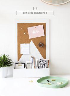 A cute desktop organizer for Spring - sugar and cloth