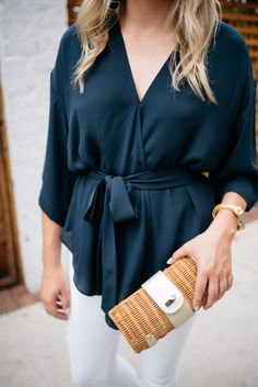 0b05c873054 10 Best Navy blouse images | Navy blue blouse, Womens fashion, Blouses