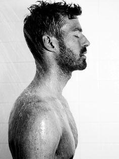 beard. shower.