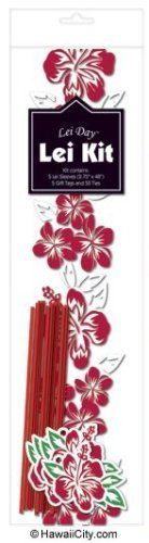 """Hawaiian Candy Lei Making Kit - 5 Red Hibiscus Lei Kits by Madden Corporation. $11.95. Fit varying sizes of candy. Supplies to make 5 complete leis. Red Hawaiian Hibiscus Flower Design. Introducing an easy way to make a candy lei and share the sweetest form of aloha. Each kit comes with the supplies to make 5 complete leis - 5 cellophane tubes (48"""" long x 2-3/4"""" wide), 50 pre-cut ribbons (5"""" each) for separating the candy compartments and 5 coordinating gift tags... Hawaiian Candy, Money Rose, Hibiscus Flowers, Party Games, Flower Designs, Candy Leis, Gift Tags, Party Supplies, Kit"""