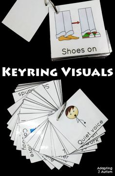 Keyring visuals for your autism classroom or special education program. Keep your behavior management visual supports portable and help your students anywhere!