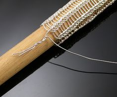 Must-Haves Jewelry: Adding wire for Viking knit Jewelry