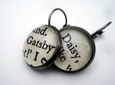 Booklover's dream: 10 Etsy shops with bookish stuff / here: book jewelry from Bookity shop