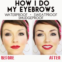 How to get waterproof, sweat proof and smudgeproof eyebrows: