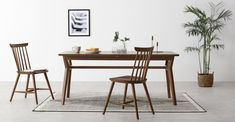 White Dining Chairs, Dining Table, House Is A Feeling, Dark Stains, Home Furnishings, New Homes, Living Room, Furniture, Home Decor