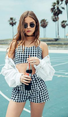Trendy fashion go-to LF Stores takes its summer looks to Venice Beach for its latest lookbook, featuring ruffle tops, crops, short shorts and more.