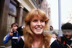 Sarah Ferguson (later Duchess of York) is surrounded by press photographers as she arrives for work in Mayfair, London on March 3, 1986.The announcement had just been made of her engagement to Prince Andrew.