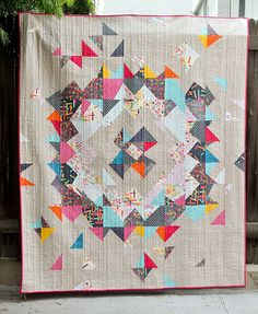 A GORGEOUS Supernova quilt in my Washi Fabric by Erica Jackman!!