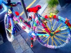 Yarn bombing! Totally new concept to me and Im loving it already.