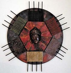 "This mixed media ""Sedona Buddha"" was created by artist Zenna MacGregor using Powertex and Stone Art."
