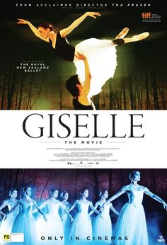 Giselle (2013), Movie Poster, Royal New Zealand Ballet (Gillian Murphy, Qi Huan, Abigail Boyle)
