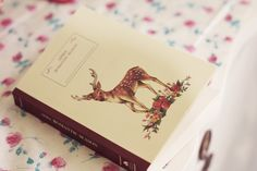 book, deer, and pastel image