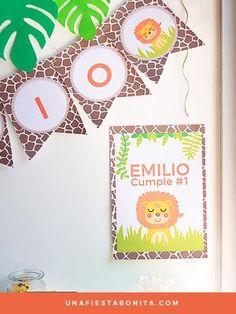 Kit imprimible Safari #safari #fiestasafari #imprimibles #kitdefiesta #kitimprimible #primerañito #ideasfiestas #decoracionfiestas #cumpleaños #fiestasinfantiles