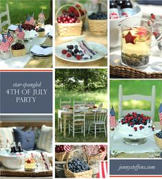 Patriotic parties real & imagined!   Holly Mathis Interiors - Holly Mathis Interiors