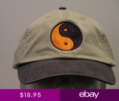 ea76e14b983 YIN YANG SYMBOL HAT WOMEN MEN EMBROIDERED BASEBALL CAP Price Embroidery  Apparel