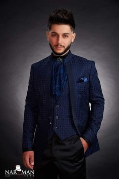 True Gentleman, Mandarin Collar, Tuxedo, Mens Suits, Bride Groom, Men's Shoes, Nasa, Suit Jacket, Menswear