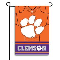 "Clemson Tigers 12.5"" x 18"" Double-Sided Jersey Foil Garden Flag"