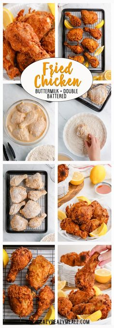 The best Fried Chicken you'll ever make! This recipe is perfection all year round! The best Fried Chicken you'll ever make! This recipe is perfection all year round! Crispy Fried Chicken, Fried Chicken Recipes, Froed Chicken, Perfect Fried Chicken, Chicken Ideas, Chicken Tenders, Good Food, Yummy Food, Snacks