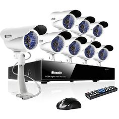 This surveillance camera system includes an 8 CH H.264 DVR and 8 Sony CCD indoor/outdoor cameras providing everything you need to start monitoring your property immediately.