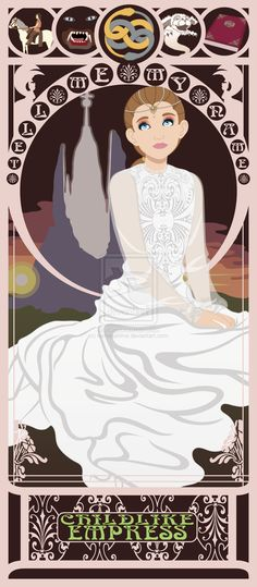 Childlike Empress - The Neverending Story | 10 Beautiful Art Nouveau Posters Of '80s And '90s Movie Heroines