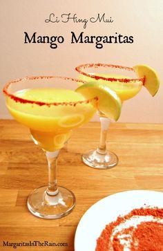 Mango Margarita with Li Hing Mui powder rim | MargaritasInTheRain