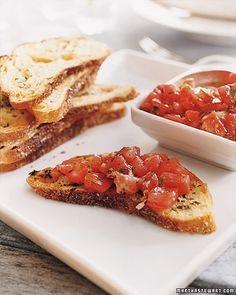 Herb Toasts and Tomato Salad - Martha Stewart Recipes