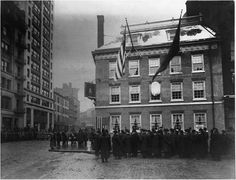 December 4th, 1907 Grand Opening of Fraunces Tavern. In 1762, innkeeper Samuel Fraunces opened the Sign of Queen Charlotte (Queen's Head Tavern), named for England's Queen Charlotte, at 54 Pearl Street. In 1832, 1837, &1852, the building suffered serious fires. After each fire, the owner rebuilt & added modern additions. By the end of the 19th century the building bore little resemblance to the original structure. Restored to its 18th century appearance and reopened 1906 -1907.