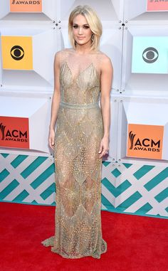 Carrie Underwood from ACM Awards 2016 Red Carpet Arrivals  A little bit of sheer and a whole lot of beauty! The American Idol winner doesn't disappoint with her latest look.