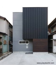 Fachada de casa urbana contemporanea