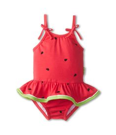 Le Top Watermelon Cutie Skirted Swimsuit (Watermelon Pink) Girl's Jumpsuit & Rompers One Piece on Baby Outfits, Kids Outfits, Kids Swimwear, Swimsuits, Cute Babies, Baby Kids, Baby Baby, Pullover Shirt, Baby Girl Swimsuit