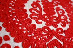Transylvanian embroidery, Irasos, on a pillow case Hungarian Embroidery, Folk Embroidery, Embroidery Stitches, Ancient Symbols, Hungary, Romania, Pillows, Holiday Decor, Handmade